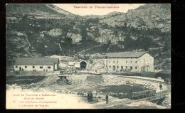 BTE 09 Travaux Du Transpyrénéen, Chemin De Fer,  Vue Générale Des Chantiers Côté Porté Puymorens - France