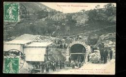 BTE 09 Travaux Du Transpyrénéen, Chemin De Fer,  L'entrée Du Tunnel  Côté Porté Puymorens - France