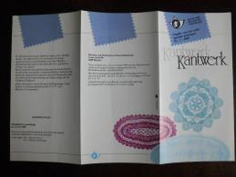 Folder Postzegeluitgifte: Belgische Traditionele Kant 1989 / Belgian Traditional Lace - Timbres