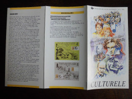 Folder Postzegeluitgifte: Jeugd En Muziek - Egmont / 1990 / Youth And Music - Timbres