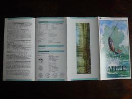 België Belgium - Folder Postzegeluitgifte: Natuur - Vissen / 1990 / Nature - Fish - Timbres