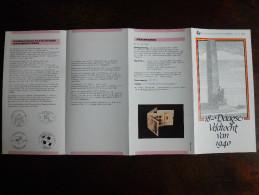 België Belgium - Folder Postzegeluitgifte: 18-daagse Veldtocht Wereldoorlog II - 1990 - World War II - Autres Livres