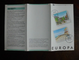 België Belgium - Folder Postzegeluitgifte: EUROPA CEPT 1990 - Postkantoren / Post Offices - Timbres