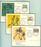 LUXEMBURG Olympic Games Helsinki 1952 complete set on 6 maxicards with first day cancels