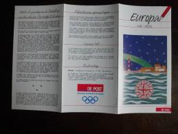 België Belgium - Folder Postzegeluitgifte: 1992 EUROPA CEPT - Amerika / Discovery Of America - Colombus - Timbres
