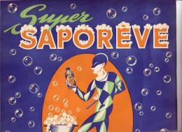 """AFFICHE   PUBLICITAIRE    """"  SUPER   SAPOREVE    """"   REVE  DE  LA   LAINE  ET DES  TISSUS  DELICATS"""
