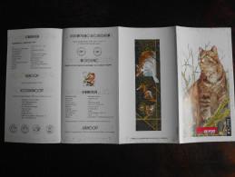 België Belgium - Folder Postzegeluitgifte: 1993 Natuur - Europese Kat / Nature - European Cat - Timbres
