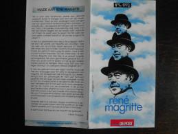 België Belgium - Folder Postzegeluitgifte: 1993 Kunst / Arts René Magritte - Autres Livres