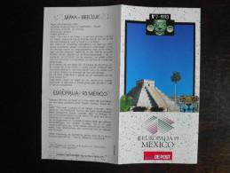 België Belgium - Folder Postzegeluitgifte: 1993 Europalia Mexico - Autres Livres