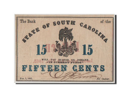 [#44711] Etats-Unis, Obsolètes, South Carolina, State Bank, 15 Cents 1.2.1863 - Collections