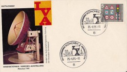 ROAD SAFETY, TRAFFIC SIGNS, STAMPS ON SATELLITE DISH MODEL SPECIAL COVER, 1965, GERMANY - Accidents & Sécurité Routière
