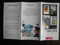 België Belgium - Folder Postzegeluitgifte: 1993 EUROPA CEPT Schilderijen (Permeke En Bertrand) / Paintings - Autres Livres
