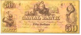 [#44769] Etats-Unis, Obsol�tes, Louisiana, Canal Bank, 50 Dollars 18__
