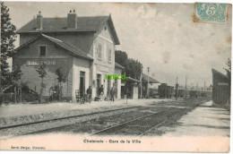 Carte Postale Ancienne De CHATENOIS – GARE DE LA VILLE - Chatenois