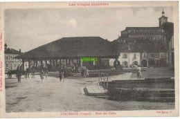 Carte Postale Ancienne De CHATENOIS – PLACE DES HALLES - Chatenois