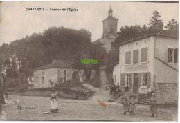 Carte Postale Ancienne De CHATENOIS – AVENUE DE L'EGLISE - Chatenois