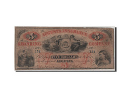 [#44789] Etats-Unis, Obsol�tes, Georgia, Augusta Insurance, 5 Dollars 10.3.1860