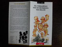 België Belgium - Folder Postzegeluitgifte: 1994 Bevrijding Wereldoorlog II / Liberation World War II - Timbres