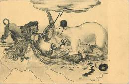 Ref G994- Guerre 1914-18- Illustrateur - Alliés - Animaux -ours Russe -aigle Allemand -lion Anglais - Coq Gaulois  - - Guerre 1914-18