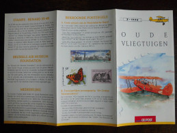 België Belgium - Folder Postzegeluitgifte: 1994 Vliegtuigen / Planes - Timbres