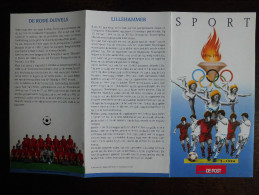 België Belgium - Folder Postzegeluitgifte: 1994 Olympische Spelen / Olympic Games Los Angeles + Lillehammer - Timbres