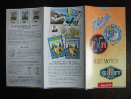 België Belgium - Folder Postzegeluitgifte: 1995 Motorfietsen / Motorcycles - Timbres