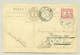 Nederlands Indië - 1919 - 5 Cent Vürtheim Op Kleurrijke Japanse Ansicht Van Daimyo Gyoretsu - Niederländisch-Indien