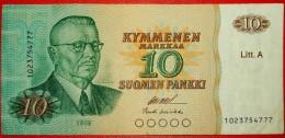★Litt. A: FINLAND ★10 MARKS 1980 !LOW START ★ NO RESERVE! PAASIKIVI (1946–1956) - Finland