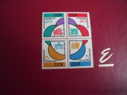 Timbres  DDR  Neufs ** Année;1962   Michel   N°   901 / 904  Bloc - Neufs