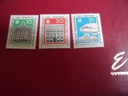 Timbres  DDR  Neufs ** Année;1962   Michel   N°   913 / 915 - Neufs
