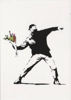 Boomerang Kaart - Banksy. Valentijn. Bloemen. - Reclame