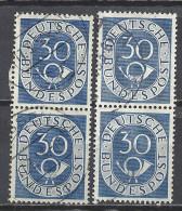 Deutschland BRD 1951 Michel 132, Yvert 18, 2 Senkrechte Zweierstreifen Gestempelt, 30 Pf Posthorn - [7] République Fédérale