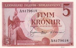 ISLANDIA : 5 Krunur 1957. Pk.37. NEUF.SC.UNC. - Islandia