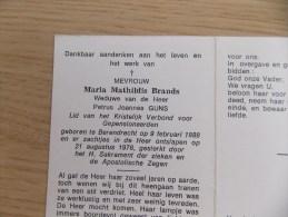 Doodsprentje Maria Mathildis Brands Berendrecht 9/2/1888 - 21/8/1976 ( Petrus Joannes Guns ) - Religion & Esotericism