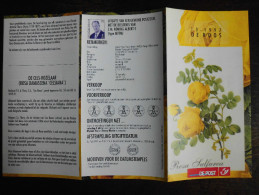 België Belgium - Folder Postzegeluitgifte: 1997 Natuur - Bloemen - Rozen / Nature - Flowers - Roses - Timbres
