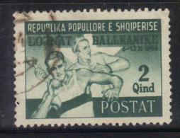 GF41 - ALBANIA 1947 , Yvert N. 348 Usato . Giochi Balcanici - Albania