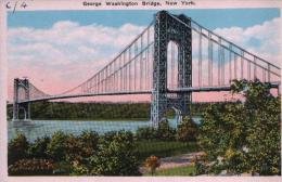 POSTCARD GEORGE WASHINGTON BRIDGE, NEW YORK - Ponts & Tunnels
