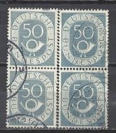 Deutschland BRD 1951 Michel 134, Yvert 20, 2 Senkrechte Zweierstreifen Gestempelt, 50 Pf Posthorn - [7] Federal Republic