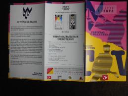 België Belgium - Folder Postzegeluitgifte: 1998 EUROPA CEPT Muziekfestivals / Music Festivals - Timbres