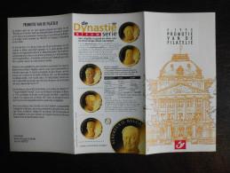 België Belgium - Folder Postzegeluitgifte: 1998 Belgische Koningen / Belgian Kings - Timbres