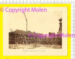 PASSERELLE EN CONSTRUCTION DU PUITS => LE TRIAGE Steenkool-mijn Charbonnages ANDRE DUMONT WATERSCHEI GENK Mines R00 - Genk
