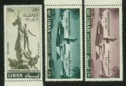 Lebanon,Liban, 1960 Martyrs ,S.G No´  649/51,MNH. - Libano