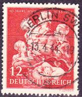 Deutsches Reich German Empire Empire Allemand - Winterhilfe/winter Relief/secours D'hiver 1943 - Gest.  Used Obl. - Germania