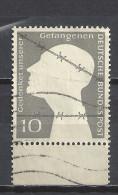 Deutschland BRD 1953 Mi 165, Sc 697, Yv 49. Unterrand, Gestempelt. Gedenket Deutscher Gefangenen - BRD