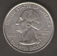 STATI UNITI QUARTER DOLLAR 2000 SOUTH CAROLINA THE PALMETTO STATE - Emissioni Federali