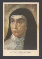 *Santa Teresa De Jesús* Imp. T.G. Soler, Barcelona. Medidas: 96 X 149 Mms. Dorso Impreso. - Imágenes Religiosas