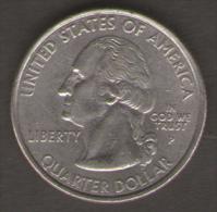 STATI UNITI QUARTER DOLLAR 2001 VERMONT FREEDOM AND UNITY - Emissioni Federali