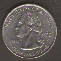 STATI UNITI QUARTER DOLLAR 2001 RHODE ISLAND THE OCEAN STATE - Emissioni Federali