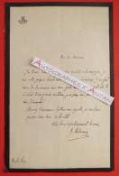L.A.S Jules ANDRIEUX Bibliothécaire Sénat - Secrétaire Thiers -  Lettre Autographe - Autographes