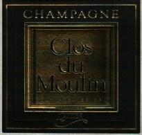 Etiquette   - Champagne    Cattier      Clos Du Moulin - Champagne